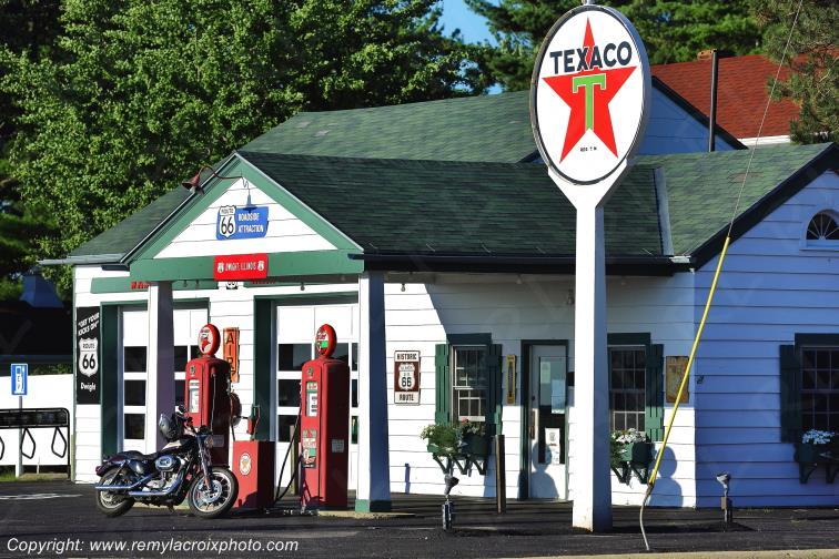 The Ambler-Becker Texaco Station,Route 66,Dwight,Illinois
