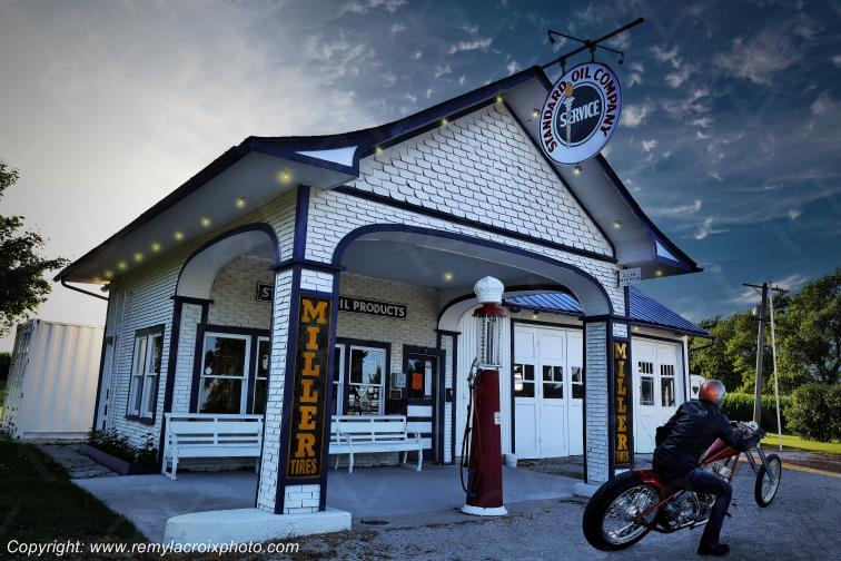 Standard Oil Gas Station,Route 66,Odell,Illinois,USA