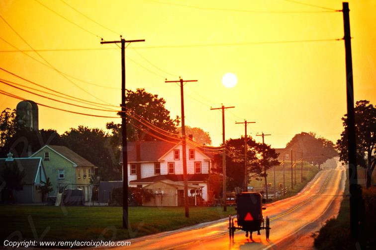Attelage Amish,Lancaster Dutch County,Pennsylvanie,USA