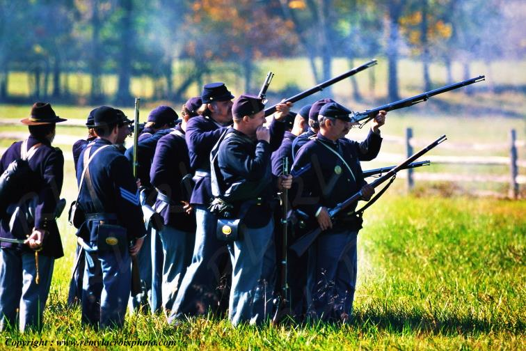 Gettysburg Nat'l Military Park,reconstitution,Pennsylvanie,USA
