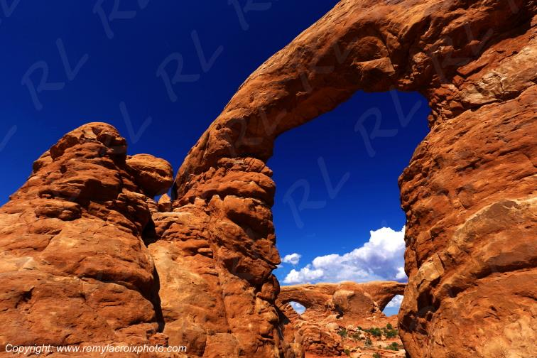 Turret Arch & The Windows Arches Arches National Park Utah USA