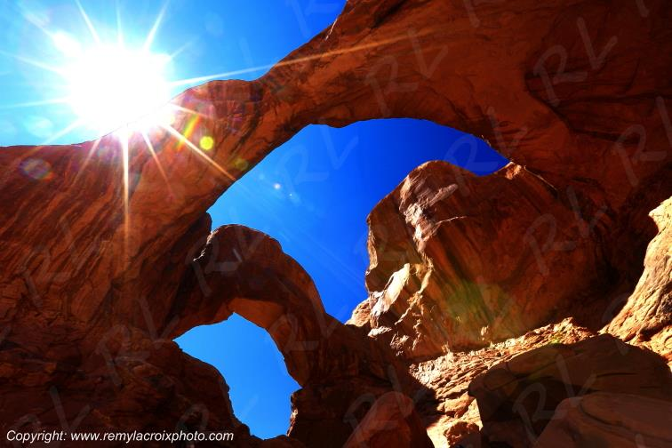 Double Arch Arches National Park Utah USA