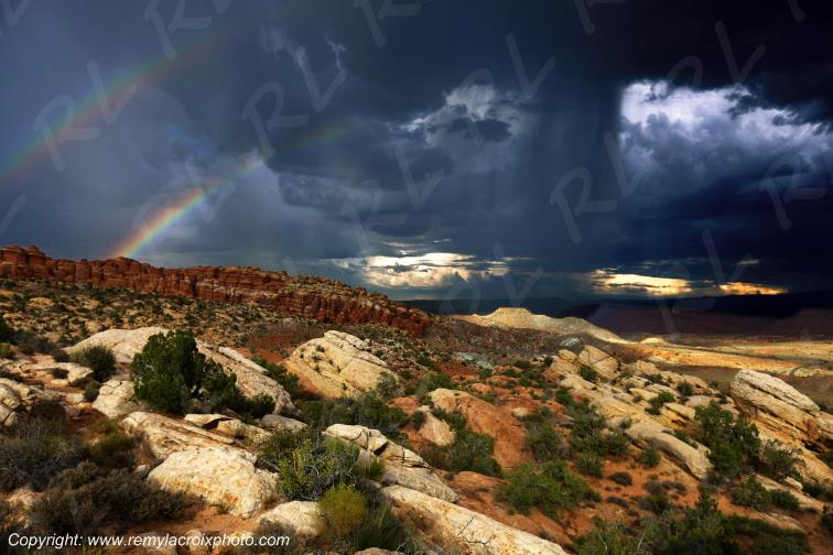 Salt Valley Overlook Arches Arches National Park Utah USA