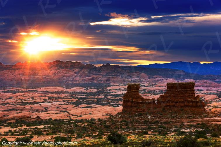 La Sal Mountains Arches Arches National Park Utah USA