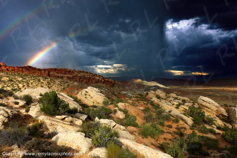 Salt Valley Overlook Arches National Park Utah USA