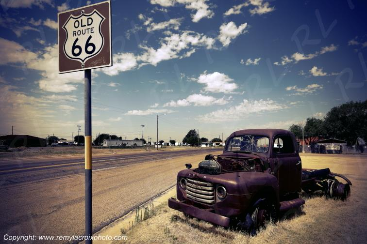 Old Ford Truck,Route 66,Vega,Texas,USA